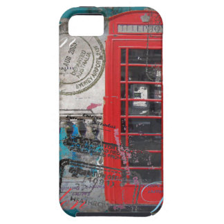 London red telephone booth Landmark Vintage Case For The iPhone 5