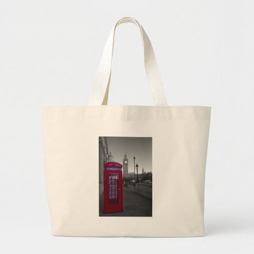 London Red Telephone box Canvas Bag