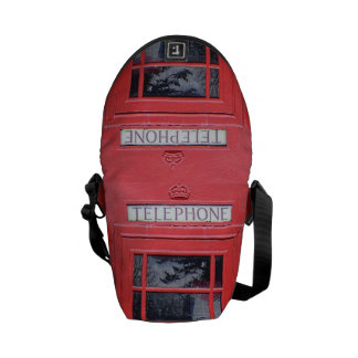 London Red Telephone Box Courier Bags