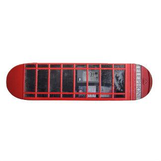 London Red Telephone Box Custom Skate Board