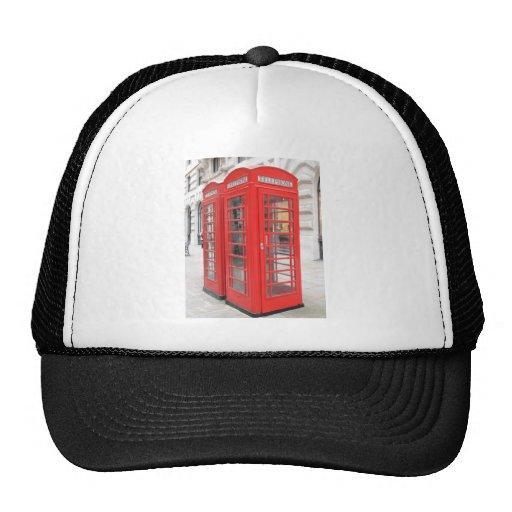 London red telephone box trucker hats