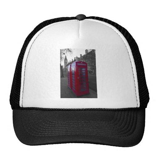 London Red Telephone box Hats