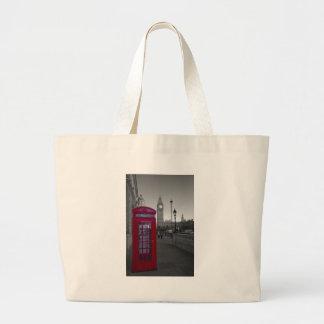 London Red Telephone box Large Tote Bag