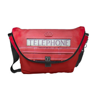 London Red Telephone Box Messenger Bags