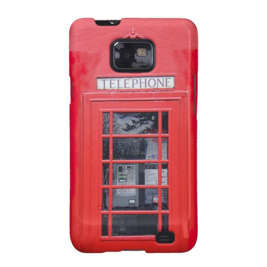 London Red Telephone Box Samsung Galaxy S2 Cases