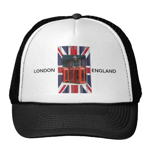 London Red Telephone Boxes Mesh Hats