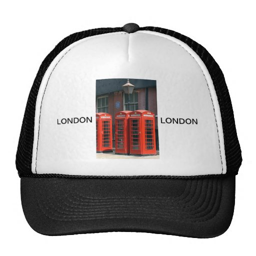 London Red Telephone Boxes Trucker Hats