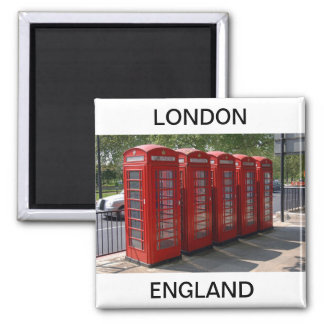 London Red Telephone Boxes Magnet