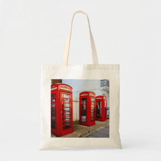 London Red Telephone Boxes, Photograph Budget Tote Bag