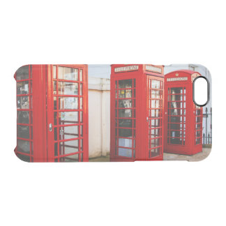 London Red Telephone Boxes, Photograph Clear iPhone 6/6S Case