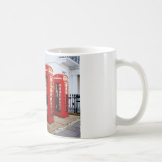 London Red Telephone Boxes, Photograph Coffee Mug