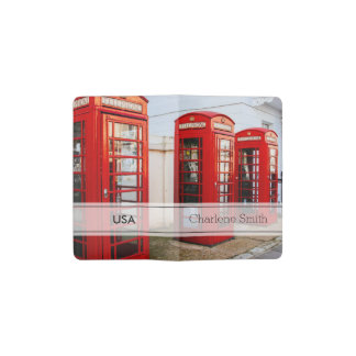 London Red Telephone Boxes, Photograph Pocket Moleskine Notebook