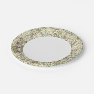 London Region Map 7 Inch Paper Plate