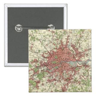 London Region Map 2 Inch Square Button