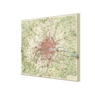 London Region Map Canvas Print