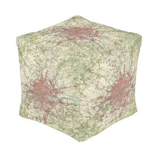 London Region Map Cube Pouf