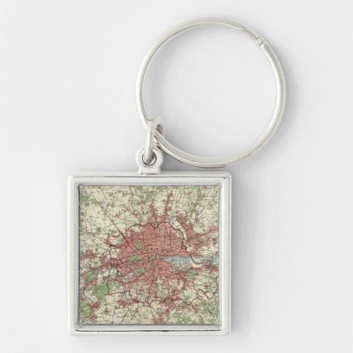 London Region Map Key Chains