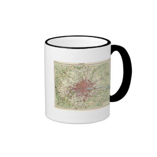 London Region Map Mugs