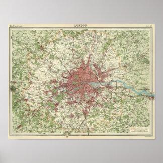 London Region Map Poster