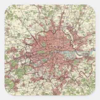 London Region Map Square Sticker