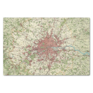 London Region Map Tissue Paper