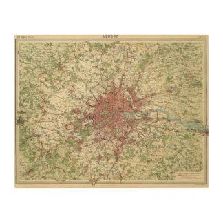 London Region Map Wood Print