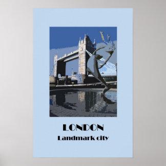 London retro 1920s-style poster