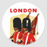 London Round Sticker