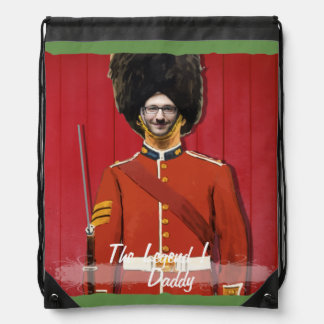 London Royal Britain Guard - with YOUR Photo -Tex Drawstring Bag