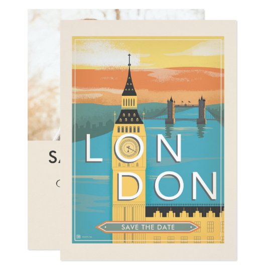 London | Save the Date - Photo Card