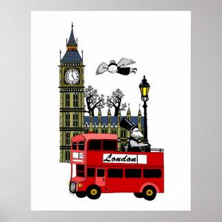London Scene Poster