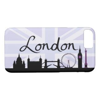 London Script on Union Jack Sky & Sites Purple iPhone 8/7 Case