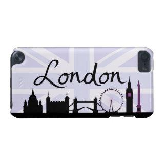 London Script on Union Jack Sky & Sites Purple iPod Touch (5th Generation) Case