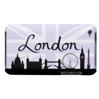 London Script on Union Jack Sky & Sites Purple iPod Touch Case-Mate Case