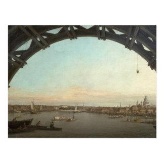 London seen through an arch of Westminster Postcard
