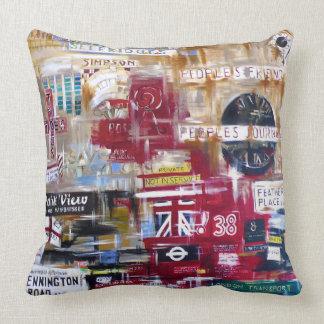 London Selfridges Throw Pillow