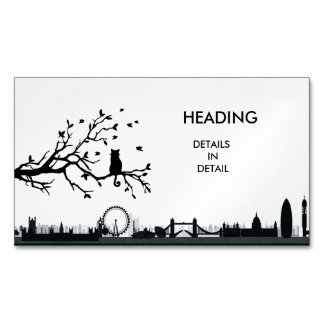 LONDON Shadows Magnetic Business Card