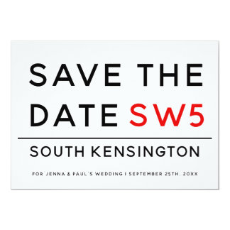 LONDON SIGN | SAVE THE DATE CARD