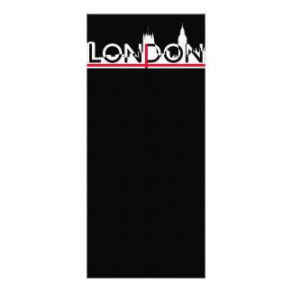 London silhouette and English flag Rack Card