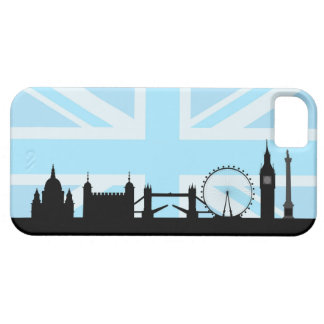 London Sites on Blue Union Jack Sky iPhone 5 Covers