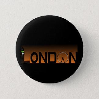 London skyline 2 inch round button