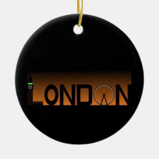 London skyline ceramic ornament