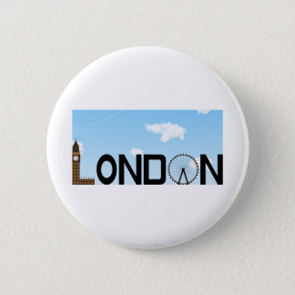 London Skyline Daytime 2 Inch Round Button