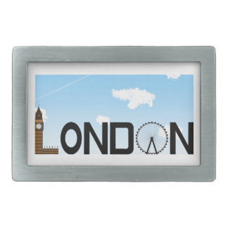London Skyline Daytime Belt Buckles