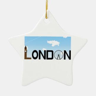 London Skyline Daytime Ceramic Ornament