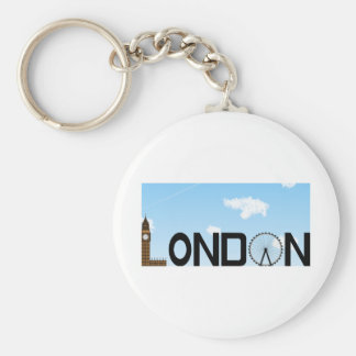 London Skyline Daytime Keychain
