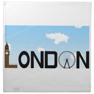 London Skyline Daytime Napkin