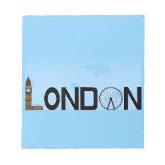 London Skyline Daytime Notepad