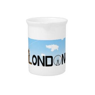London Skyline Daytime Pitcher
