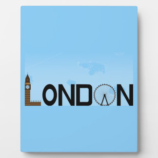 London Skyline Daytime Plaque